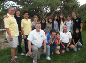Mr. Gerdes with Rotary Youth Exchange students.